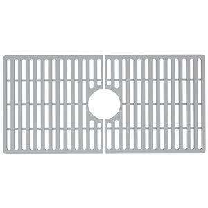Grille de fond d'évier de cuisine en silicone de Vigo, 29,5 po x 14,56 po, gris