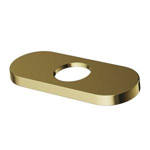 Vigo Bathroom Faucet Deck Plate, Matte Gold