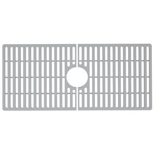 Grille de fond d'évier de cuisine en silicone de Vigo, 32,5 po x 14,56 po, gris