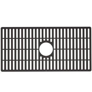 Grille de fond d'évier de cuisine en silicone de Vigo, 29,5 po x 14,56 po, noir mat