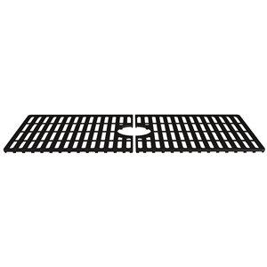 Grille de fond d'évier de cuisine en silicone de Vigo, 32,5 po x 14,56 po, noir mat