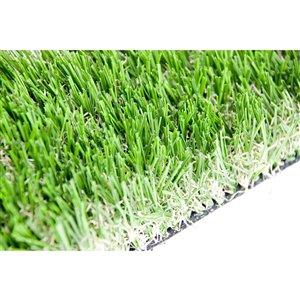Gazon synthétique de fétuque Sequoia de Green as Grass, 25 pi x 7,5 pi