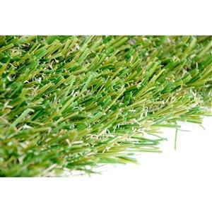 Échantillon de gazon synthétique de fétuque Spring Pro de Green as Grass, 1 pi x 1 pi