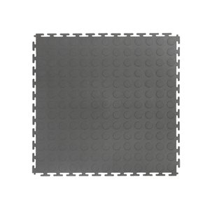 Versatex Coin Top Garage Interlocking Tiles - 18-in x 18-in - Grey - 6-Pack