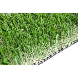 Échantillon de gazon synthétique de fétuque Pet de Green as Grass, 1 pi x 1 pi
