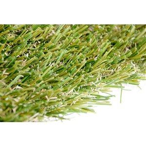 Échantillon de gazon synthétique Fescue Pro de Green as Grass, 1 pi x 1 pi