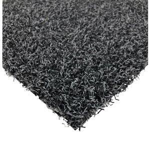 Tapis de gazon synthétique Diamond de Trylawn Turf, 15 pi x 6 pi, charbon
