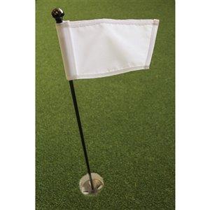 Ensemble pour vert de pratique de golf de Par Aide, drapeau blanc