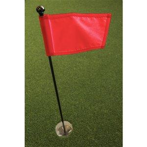 Ensemble pour vert de pratique de golf de Par Aide, drapeau rouge
