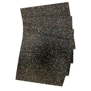 Tuile de sol Rubbermax, 19,75 po x 19,75 po, noir/gris, paquet de 4