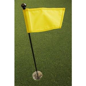 Ensemble pour vert de pratique de golf de Par Aide, drapeau jaune