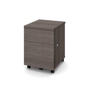 Classeur mobile Universel à deux tiroirs de Bestar, gris écorce