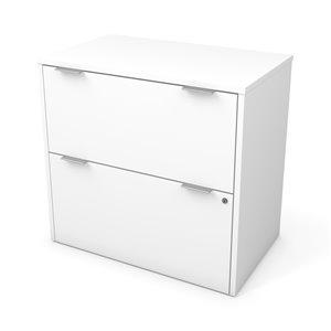 Classeur i3 Plus à deux tiroirs de Bestar, blanc