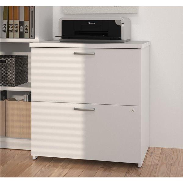 Bestar Universel 2-Drawer File Cabinet, White