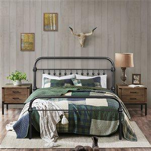 FurnitureR Gobert Full-Size Bed Frame - Black