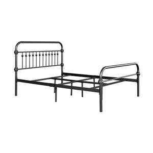 Encadrement pour lit à deux places Gobert de FurnitureR, noir