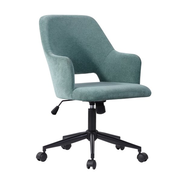FurnitureR Boga Contemporary Ergonomic Swivel Task Chair with Adjustable Height - Teal