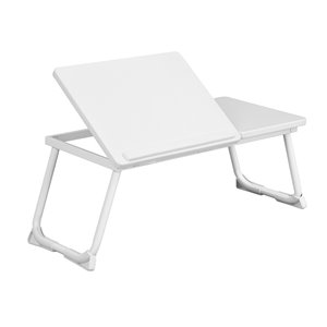FurnitureR Mamie Composite Laptop Folding Table - 25.5-in x 10.8-in - White