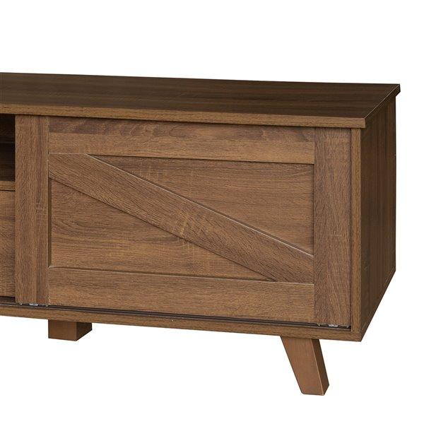 Meuble pour téléviseur avec rangement Latza de FurnitureR, brun