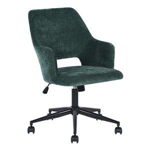 FurnitureR Boga Contemporary Ergonomic Swivel Task Chair with Adjustable Height - Green