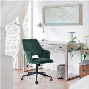 Chaise de bureau ergonomique pivotante contemporaine Boga de FurnitureR avec hauteur ajustable, vert