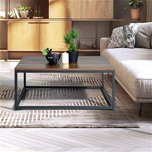 Table basse en composite Facto de FurnitureR, brun foncé