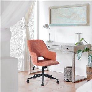 Chaise de bureau pivotante contemporaine Boga de FurnitureR avec hauteur ajustable, corail