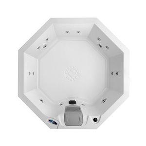 Spa portable octogonal avec éclairage DEL et jets réglables Muskoka pour 5 personnes à 14 jets de Canadian Spa Company