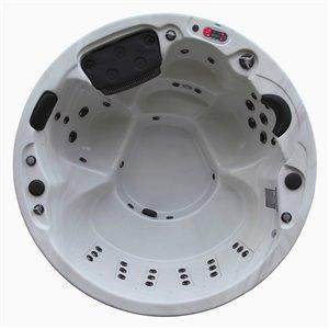 Spa rond avec éclairage DEL et audio Bluetooth Ottawa pour 5 personnes à 38 jets de Canadian Spa Company