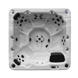 Spa carré avec éclairage DEL et audio Bluetooth Victoria pour 7 personnes à 46 jets de Canadian Spa Company
