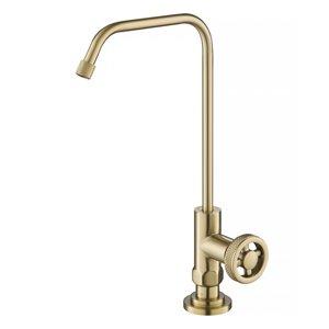 Kraus Urbix Brushed Gold 1-Handle Deck Mount Bar and Prep Faucet Handle/Lever Kitchen Faucet