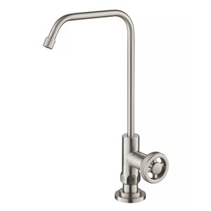 Kraus Urbix Spot-Free Stainless Steel 1-Handle Deck Mount Bar and Prep Faucet Handle/Lever Kitchen Faucet