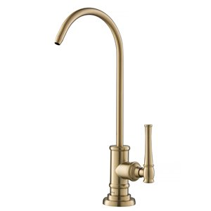 Kraus Allyn Brushed Gold 1-Handle Deck Mount Bar and Prep Faucet Handle/Lever Kitchen Faucet