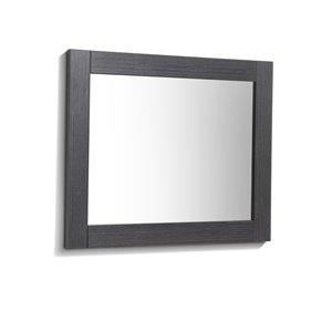 Luxo Marbre Relax Rectangular Frameless Bathroom Mirror, 30-in W, Silver grey