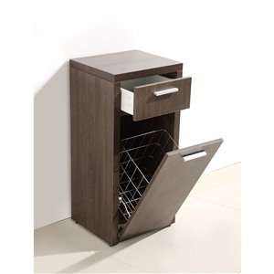 Luxo Marbre Relax Particleboard Cabinet Banks, with 1 Door and 1 Drawer, 13.75-in W x 33.5-in H x 15.75-in D, Alamo Oak