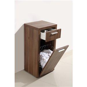 Armoire de salle de bain Relax de Luxo Marbre, 1 tiroir et 1 porte, 13,78 po L x 33,6 po H x 15,78-in P, noyer