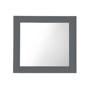 Luxo Marbre Classic Rectangular Frameless Bathroom Mirror, 30-in W, Light Grey