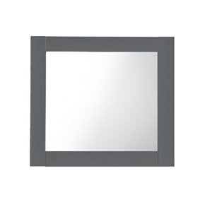 Miroir de salle de bain rectangulaire Classic sans cadre de Luxo Marbre, 30 po, gris pâle