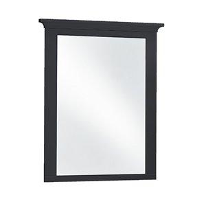 Luxo Marbre Lady Rectangular Frameless Bathroom Mirror, 30-in W, Black