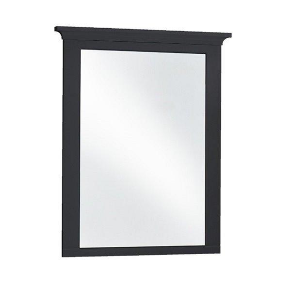 Miroir de salle de bain rectangulaire Lady sans cadre de Luxo Marbre, 30 po, noir
