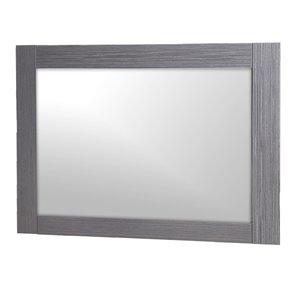 Luxo Marbre Relax Rectangular Frameless Bathroom Mirror, 35.5-in W, Silver grey