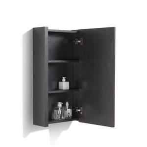 Pharmacie Relax rectangulaire de Luxo Marbre à miroir simple, 17,75 po x 31,5 po, gris argenté