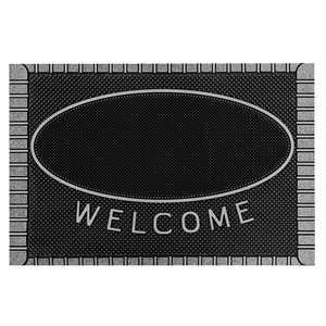 Floor Choice Silver Friendly Welcome Mat - 39-in x 18-in
