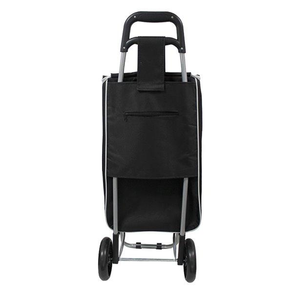 Chariot de magasinage noir de Modern Homes avec cadre en acier
