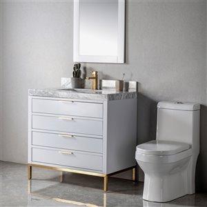Meuble-lavabo Eloise gris/or de 36 po par Jade Bath