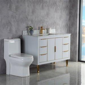Meuble-lavabo Estelle gris/or brossé de 48 po par Jade Bath