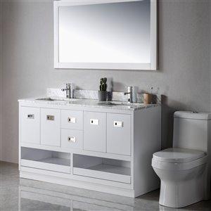 Meuble-lavabo Lisette gris/nickel brossé de 60 po par Jade Bath