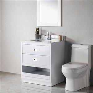 Meuble-lavabo Lisette gris/nickel brossé de 24 po par Jade Bath
