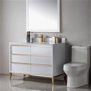 Meuble-lavabo Amelie gris/or brossé de 48 po par Jade Bath