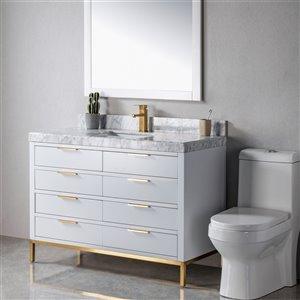 Meuble-lavabo Eloise gris/or de 48 po par Jade Bath